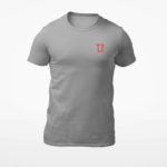 men_s tee L.I. logo (grey red)