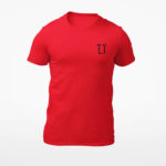 men_s tee L.I. logo (red black)