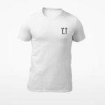 men_s tee L.I. logo (white black)