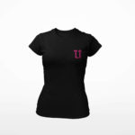 women_s tee L.I. logo (black pink)