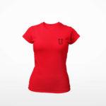 women_s tee L.I. logo (red black)