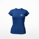 women_s tee Single Plane logo (navy blue white)