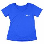 women_s vneck Single Plane logo (royal blue white)